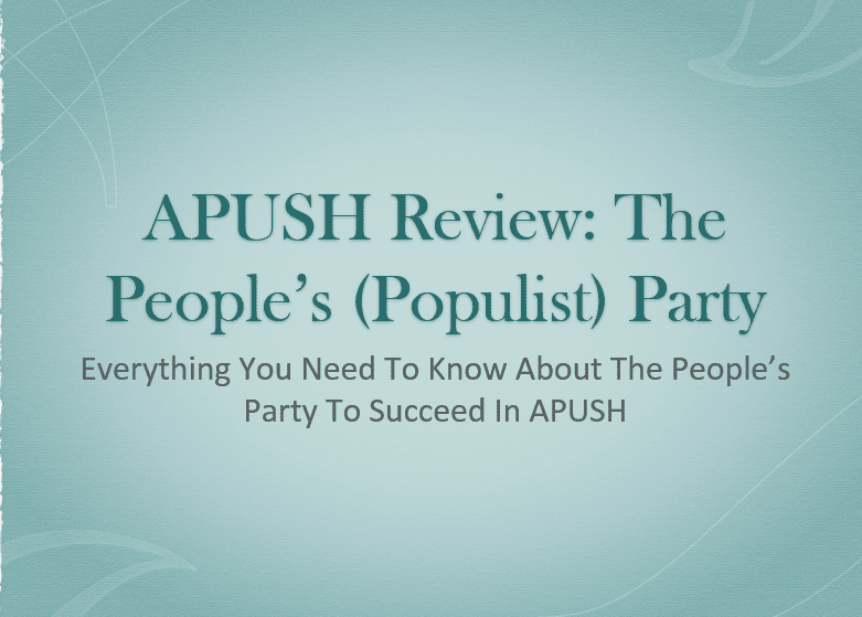 the populist moment essay The populists were an agrarian-based political movement aimed at improving conditions for the the populist moment: a short history of the agrarian revolt.